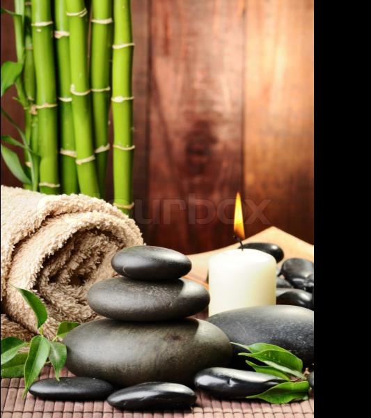 Bambus Zen-Steine Kerze